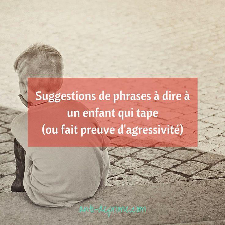 Je vous invite aujourd'hui à découvrir des phrases pour aider les enfants à transformer leur agressivité en mots afin qu'un dialogue s'établisse avec les personnes capables de répondre aux besoins qui font défaut.