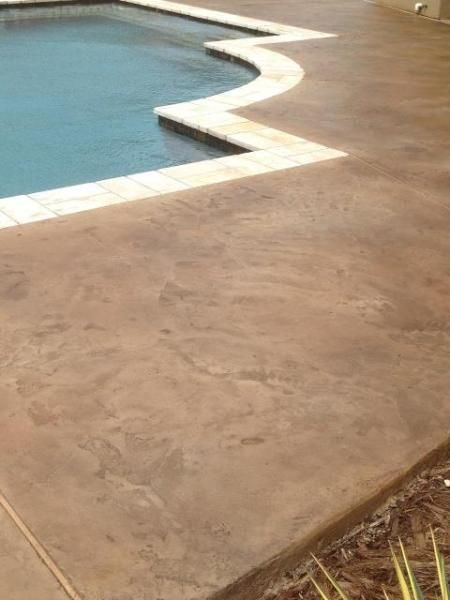 Stamped Concrete Overlay Pool Baton Rouge La Louisiana