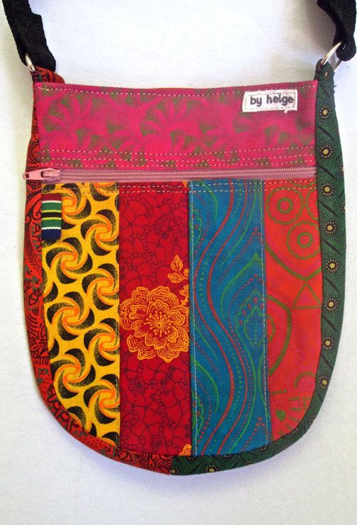 Refersible shweshwe JOYbag by helgé original hand made fabric wallets and bags