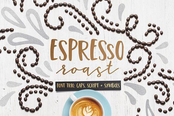 Espresso Roast Font Trio by everytuesday on @creativemarket