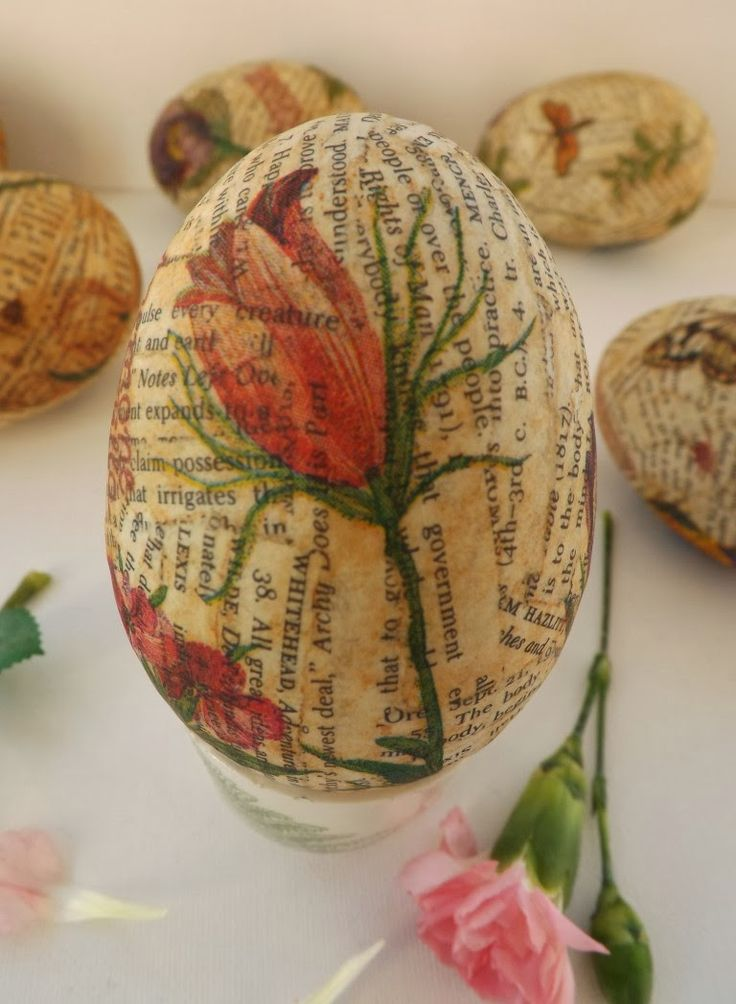 I'd like to do a version of these with some of my violets tissue paper.  SewforSoul: Plastic Easter Eggs ~ Decoupage Tutorial