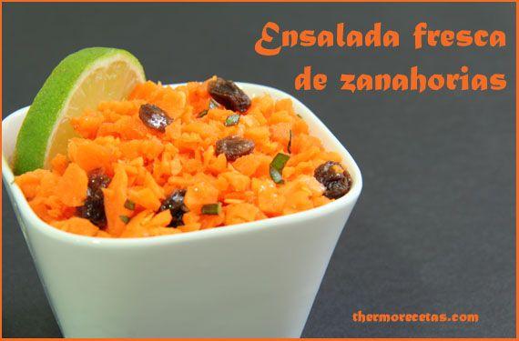 Ensalada fresca de zanahorias - http://www.thermorecetas.com/2013/08/16/ensalada-fresca-de-zanahorias/