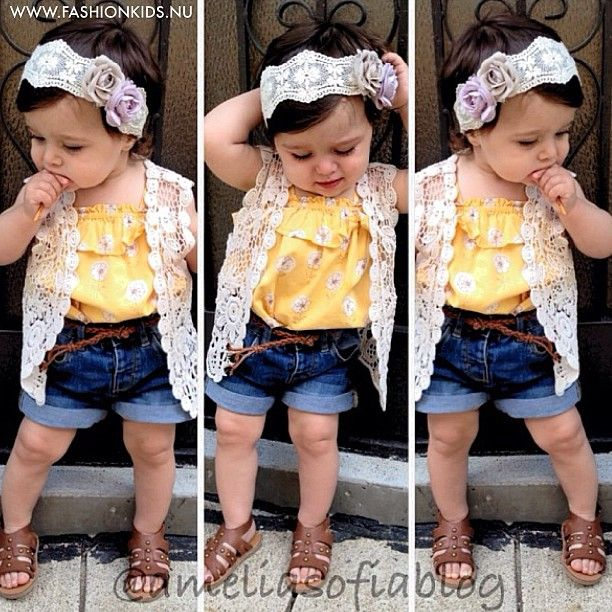 kids toddler infant baby girl look fashion style