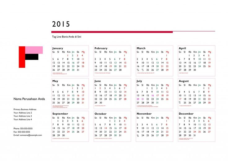 Kalender 2015 Indonesia - Design_33_Profile