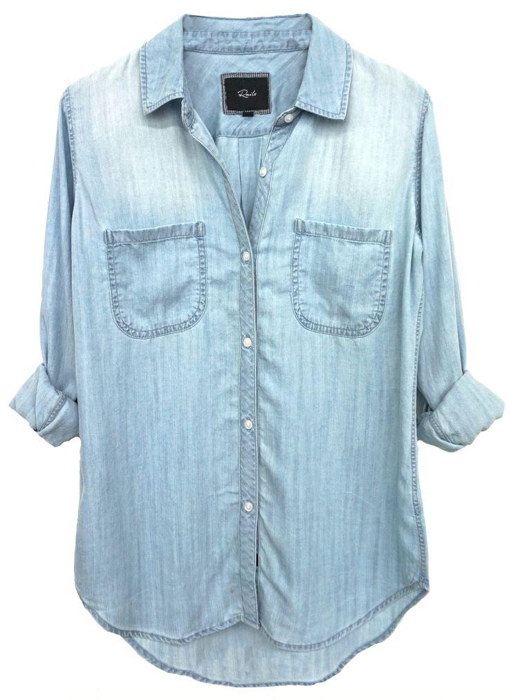 Rails - Carter Light Vintage Wash Denim Shirt
