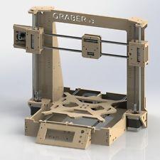 Reprap Graber i3 Laser Cut Frame 6 mm in 6mm Plywood 3D Printer Part