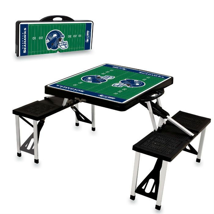 Use this Exclusive coupon code: PINFIVE to receive an additional 5% off the Seattle Seahawks Black Portable Picnic Table at SportsFansPlus.com