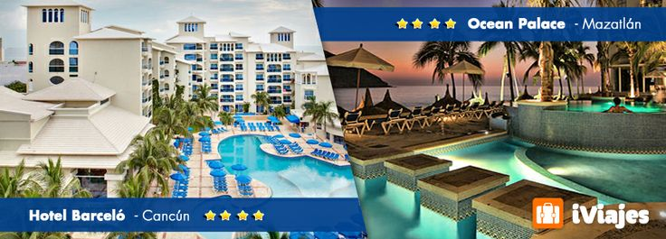 ¡TU ELIGES EL DESTINO! Ademas Todo Incluido #Cancun 65% de descuento   #Mazatlan 50% de descuento   #Viajes #Descuentos #4estrellas #Mexico #Iviaies #Telcel #Cancun  #Mazatlan