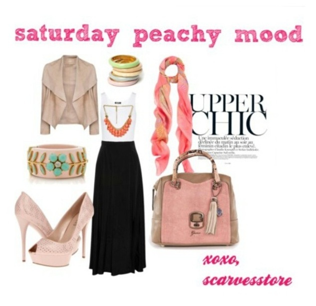 Upper chic hijabers look.. Peachy Mood...luv it ^^