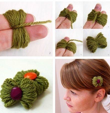 Accesorio para el cabello con restos de hilo. | Gaby2723