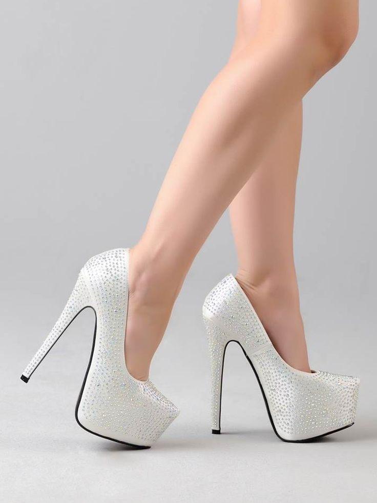 Zapato Blanco de Plataforma Pumps Z083