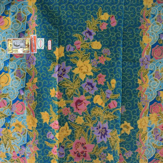 sweet blue  and flowers  pure cotton traditional by TheThailand