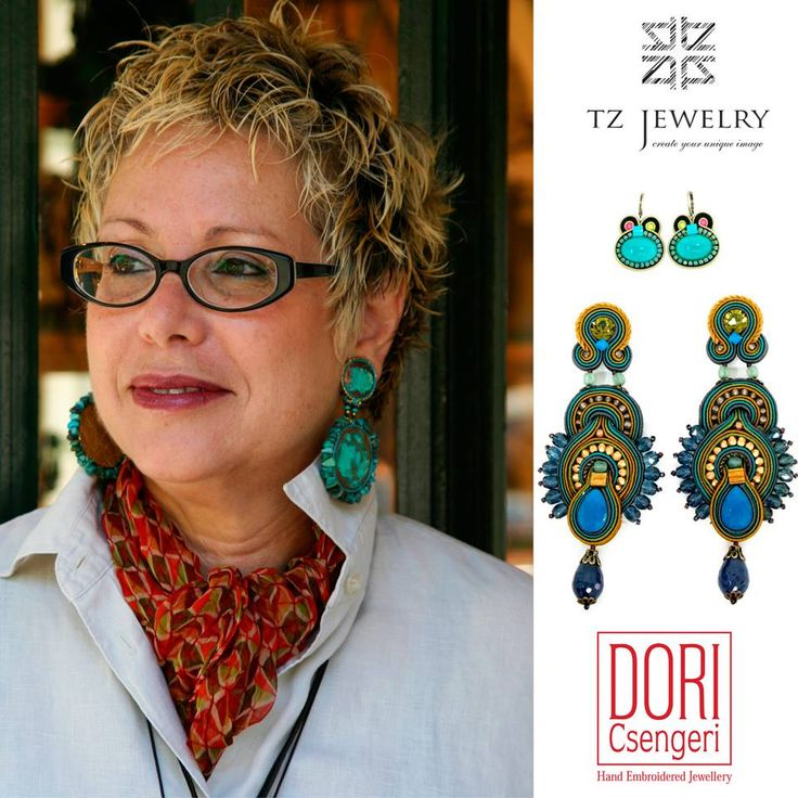 Designer Dori Csengeri! #DoriCsengeri #soutache #exclusive #jewelry #TZjewelry #unique