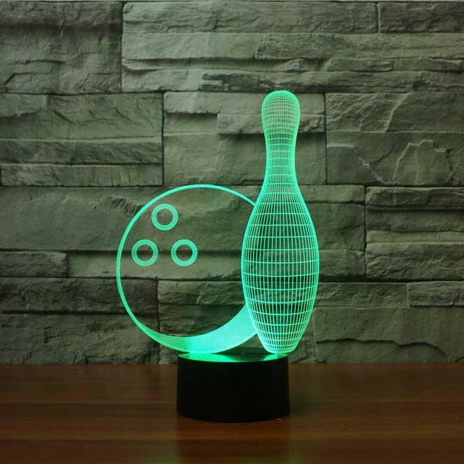 Bowling 3D Optical LED Illusion Lamp - Lampeez