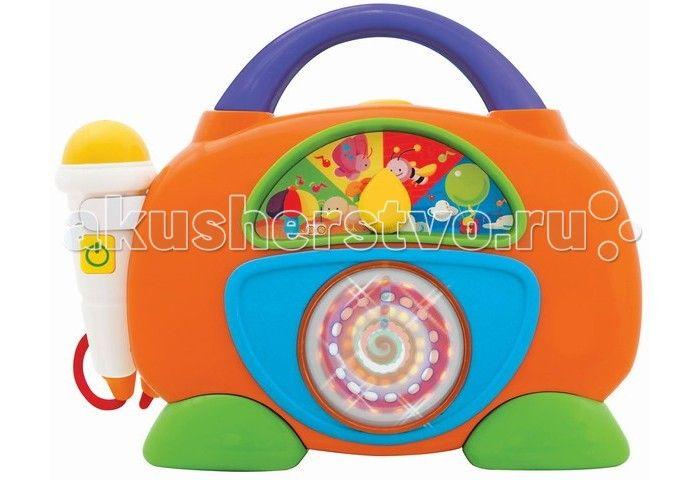 Kiddieland Развивающая игрушка Забавное радио  Kiddieland Развивающая игрушка Забавное радио отличное развлечение для малыша. Игрушка снабжена звуковыми эффектами, нажав на кнопку сверху - дети смогут прослушать музыкальные мелодии.  Радио имеет яркий корпус с ручкой, украшенный цветными декоративными наклейками. А микрофон позволит детям попробовать себя в роли звёзд эстрады.  Игрушка способствует развитию мелкой моторики, цветового восприятия, воображения и фантазии малышей.