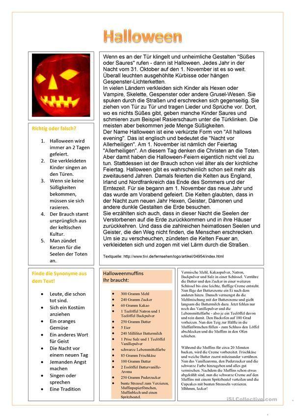 29 besten Хэллоуин Bilder auf Pinterest | Grundschulen, Deutsch ...