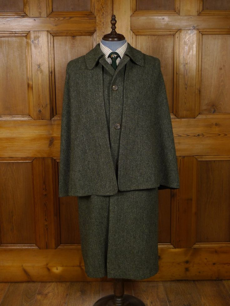 VINTAGE INVERTERE HEAVYWEIGHT GREEN TWEED FULL-LENGTH ...