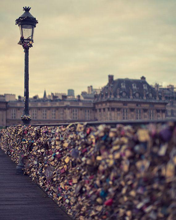 Love Locks on the Pont Des Arts Bridge door EyePoetryPhotography, $30.00