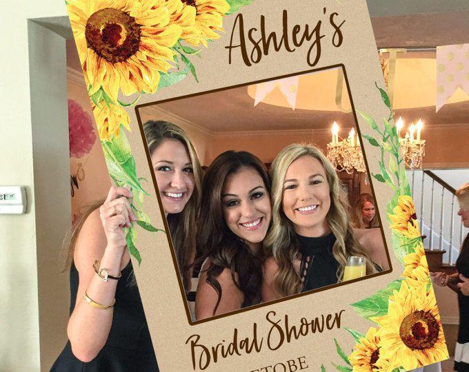 Bridal Shower Photo Prop - Sunflower - DIGITAL FILE - Wedding Photo Prop - Baby Shower Photo Prop - Printed Option Available - Bridal