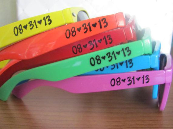 Set of Rainbow Wedding favor personalized by GreenBridalBoutique Bachelorette party!!