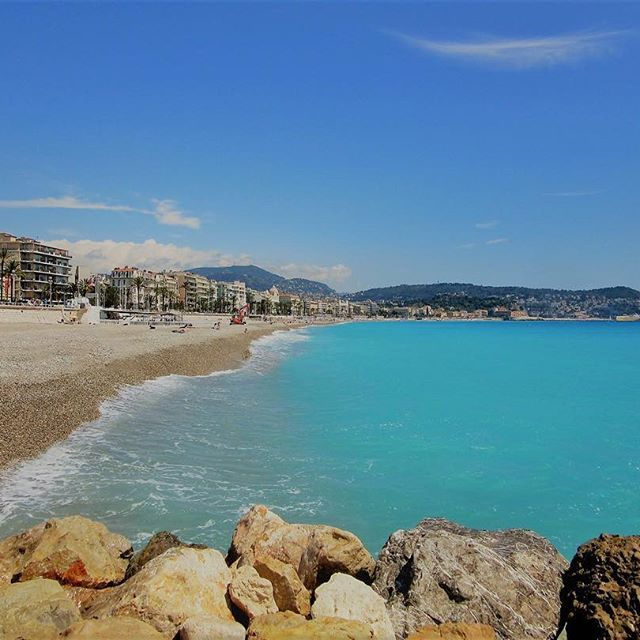 Nice, France #takemeback #needholiday #springinfrance #april #picturesque #2015 #beach #turquoise #water #sparkling #melbournelifelovetravel #nice #france
