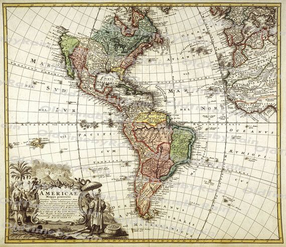 42 best old maps images on pinterest mapas antiguos ilustraciones vintage old map of americaimage download retro style designresource old map digital printsnorth america and south america1746 gumiabroncs Images