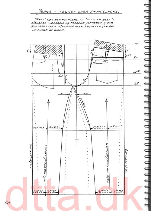 SYSTEM DTTA: PAGE 110 | Tailoring - patternmaking, cutting and sewing | THE DESIGN AND TECHNICAL TAILORING ACADEMY | TILSKÆRERAKADEMIET I KØBENHAVN (KBH)