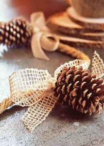 Χριστουγεννιάτικες διακοσμήσεις με κουκουνάρια | Small Things