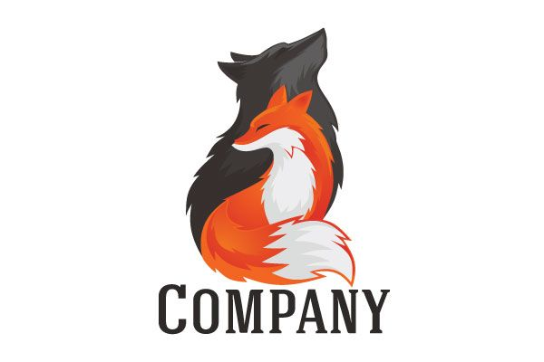 Logo for sale: Wolf And Fox Logo
