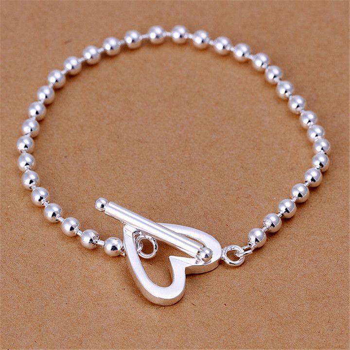 Мода Браслеты Браслеты Позолоченные Серебряные Браслеты Ювелирные Изделия ГУ Форме Сердца К Браслет И Ювелирные Изделия