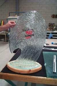 billabong pro award - Glass Wave trophy made for billabong..