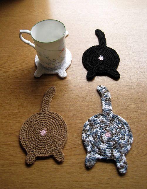 Ravelry: Tinaspice's Cat Butt Coaster