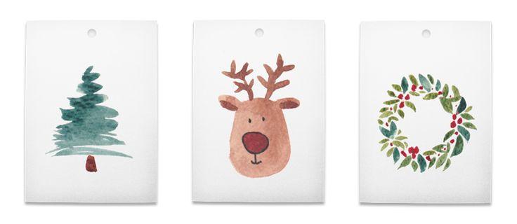Free Christmas Gift Tags - Downloadable PDF