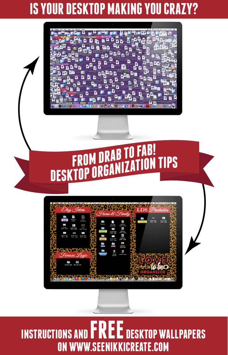 Desktop Wallpapers and Instructions on How to Organize your Desktop! (FREEBIE DOWNLOAD)