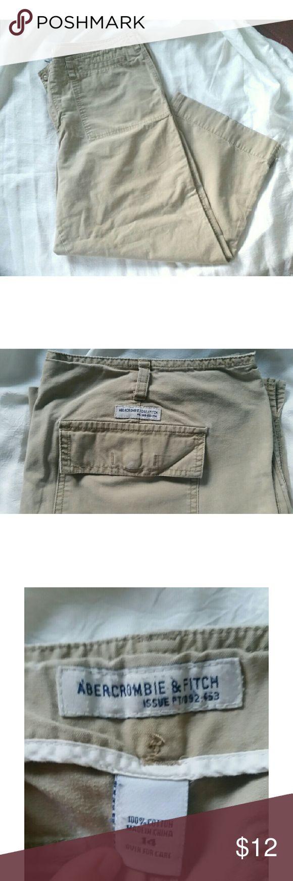 Abercrombie  & Fitch Khaki Capris Abercrombie  & Fitch Khaki Capris. Size 14. Excellent. Condition.  Reasonable offers accepted. Old Navy Pants Capris