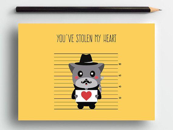 Cute love card, funny love card, romantic card, cat anniversary card, cute animal card, cat lover card, cute cat card, sweet card, pets card