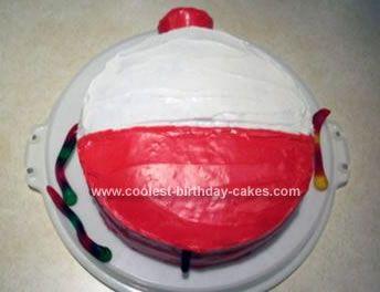Homemade Fishing Bobber Cake