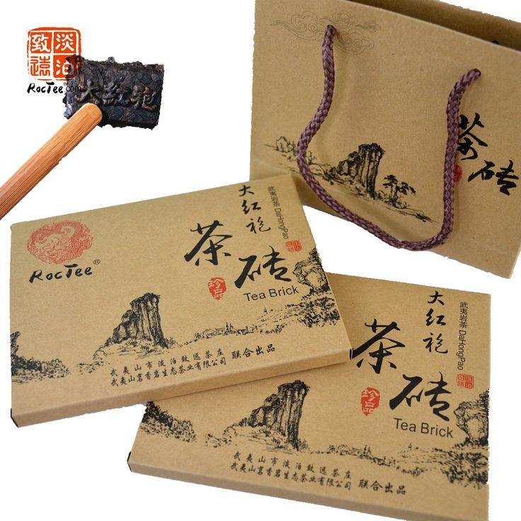 2015 Год Новый Чай Китайский Дракон! уи Да Хун Пао Большой Красный Халат Улун Шоколада Кирпичный Чай 300 г, Из Двух Частей, Бесплатная Доставка
