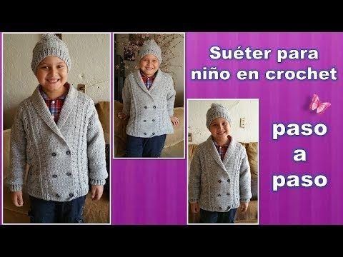 Cómo tejer abrigos para niños / Tutoriales Crochet | Crochet y Dos agujas - Patrones de tejido