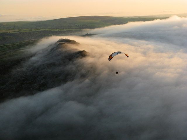 Peter Davis photo of sea mist rolling over the summit
