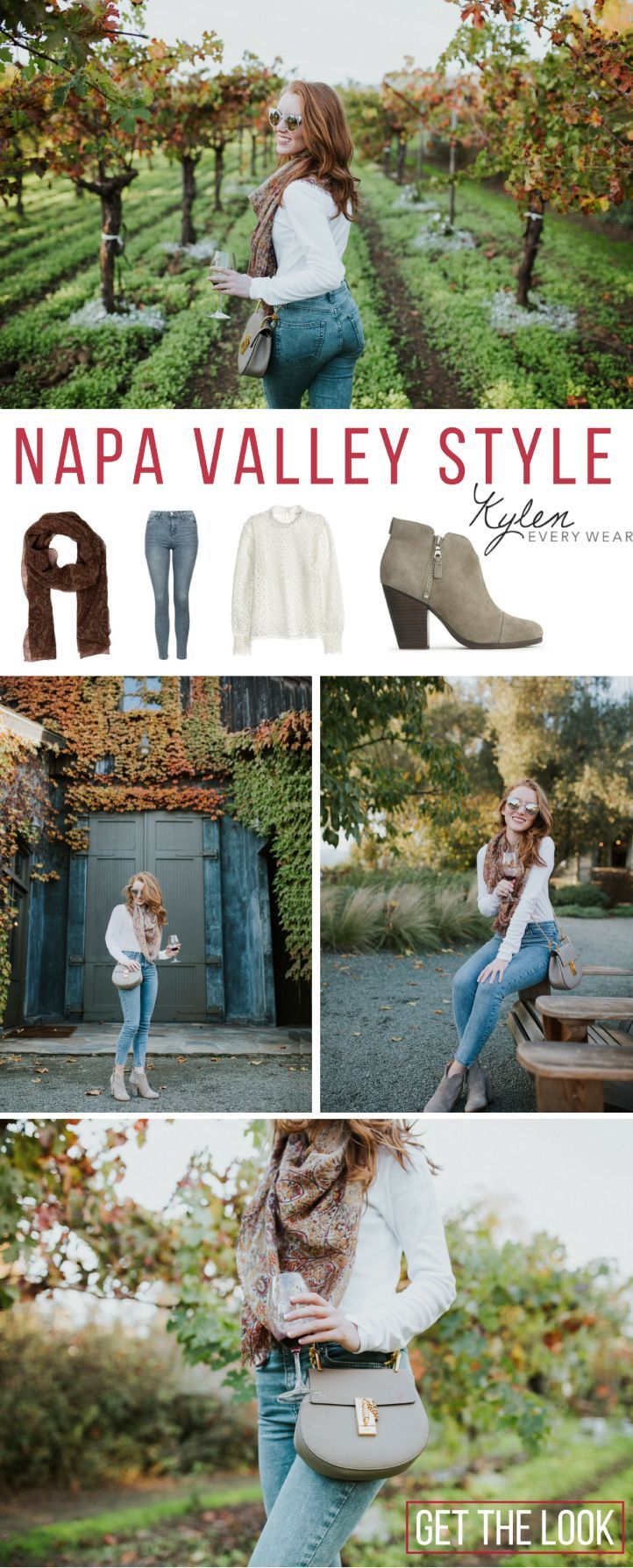 Napa Valley has a laid-back vibe, so for my wine tasting outfit, I went for a classic jeans and crisp white style | Kylen Every Wear