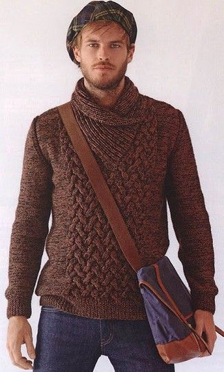 How to Wear a Brown Sweater (88 looks) | Lookastic for Men