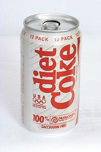Diet Coke Soda Can USA Olympic Sponsor 12pk 12oz A A Stay Tab T O 9 23 15   eBay