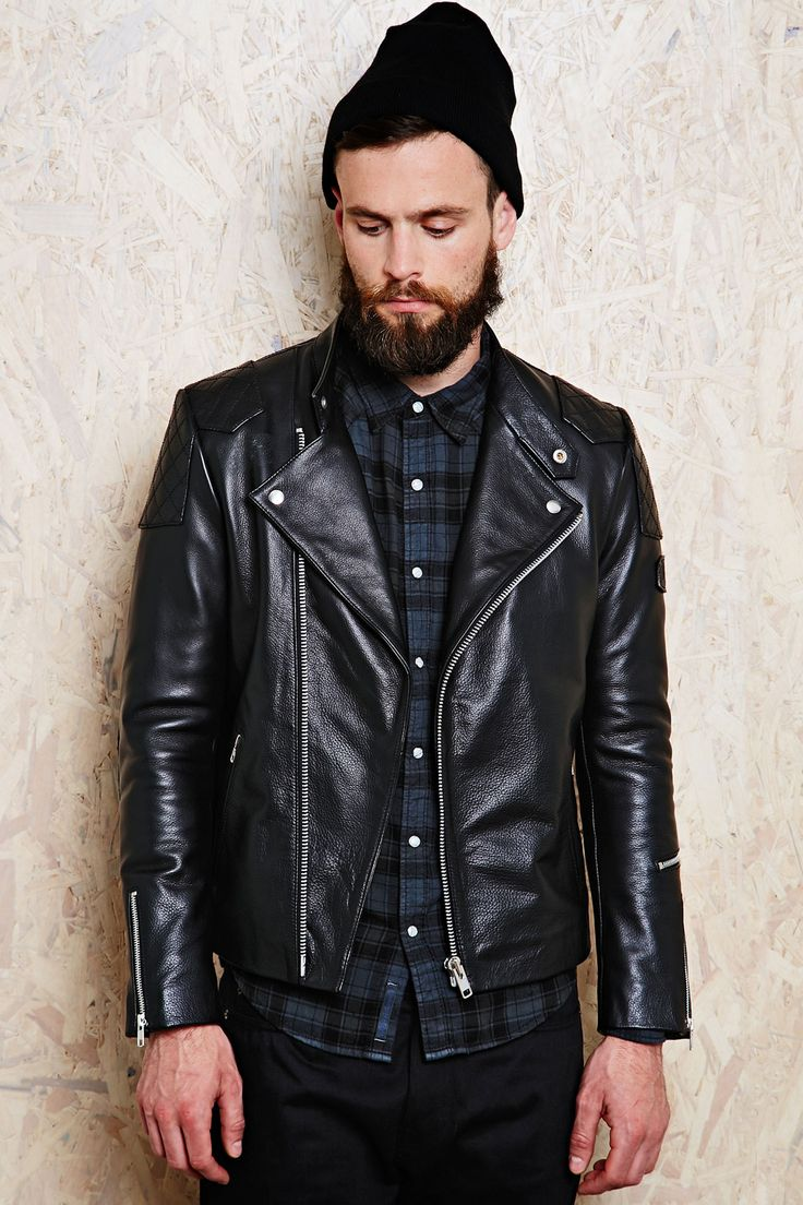 Edwin Leather Biker Jacket at Urban Outfitters