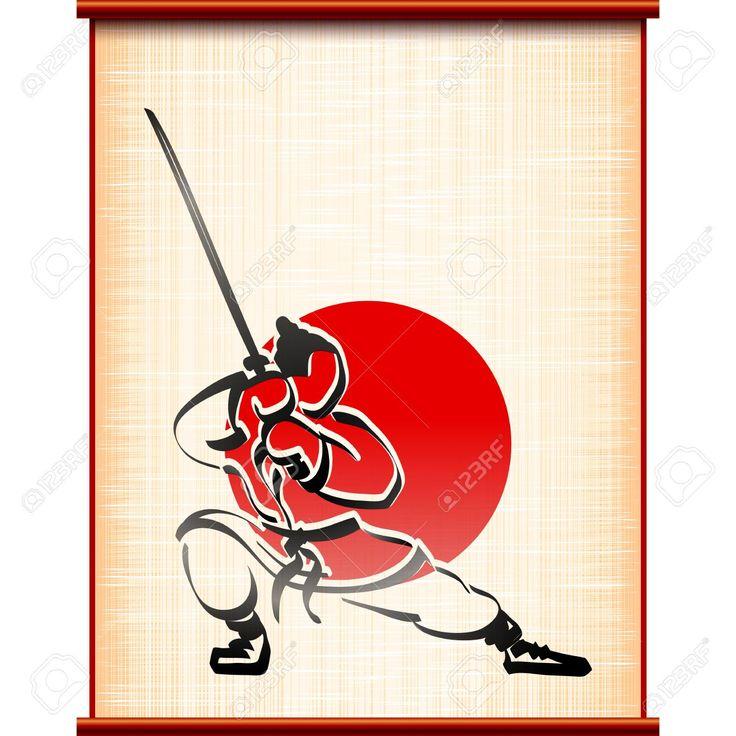 57970057 Samurai Con Katana En La Lucha Contra