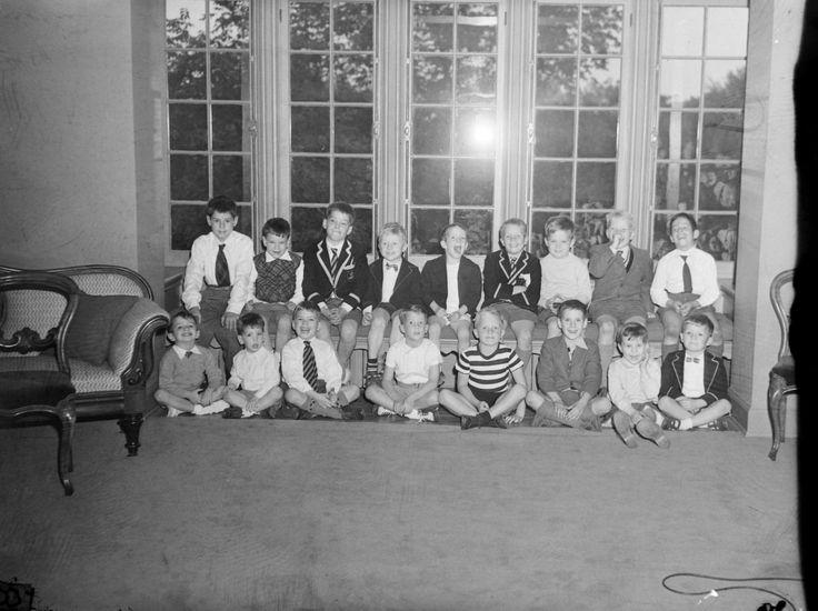 Party Group. Children, Birks, 1954.