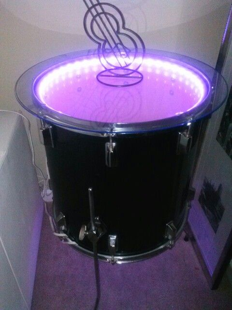 Drum table with lights