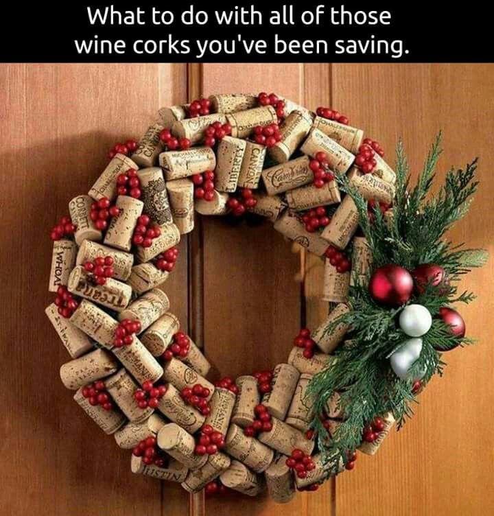 Wine Cork Wreath.....