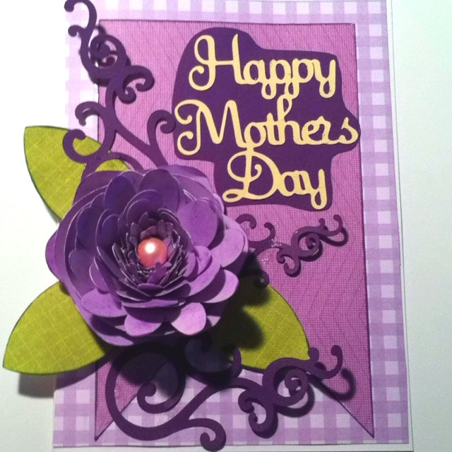 Cricut Card Making Ideas Part - 36: Mothers Day Card Made With Cricut Art Philosophy.