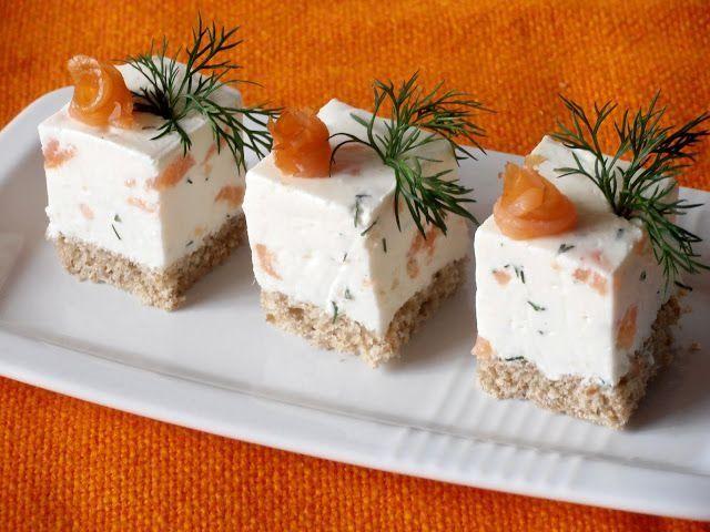 Reteta Cuburi aperitiv cu crema de branza si somon din categoriile Aperitive cu brinza, Aperitive cu peste